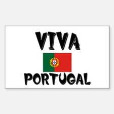 Viva Portugal Rectangle Decal