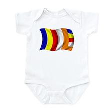 Wavy Buddhist Flag Infant Bodysuit