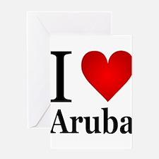 ilovearuba.png Greeting Card