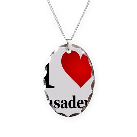 ilovepasadena.png Necklace Oval Charm