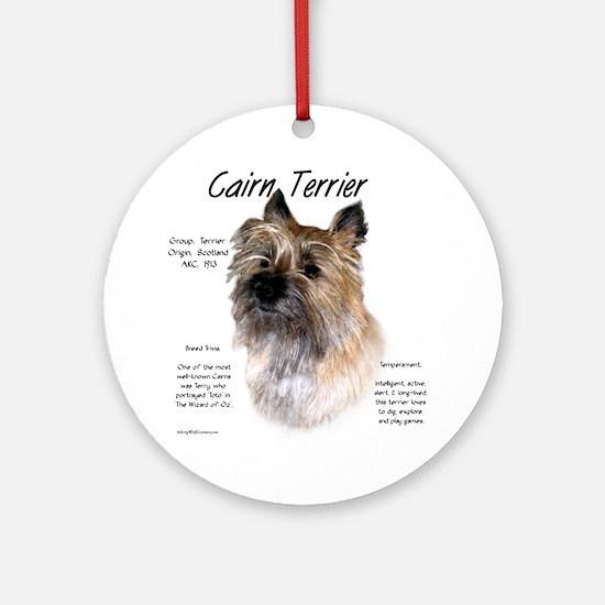 Cairn Terrier Round Ornament