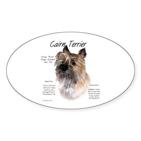 Cairn Terrier Oval Sticker