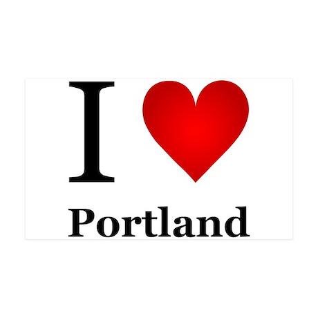 I Love Portland 35x21 Wall Decal