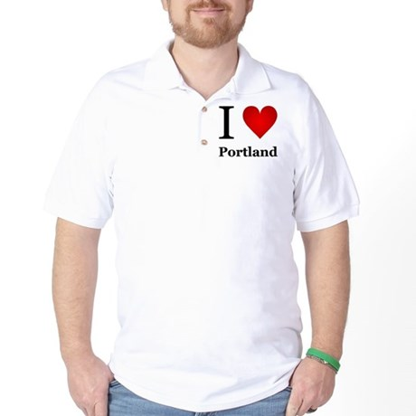 I Love Portland Golf Shirt