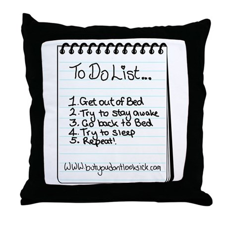 "The ""To Do"" List Throw Pillow"