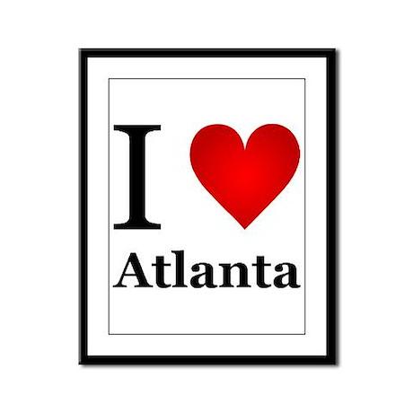 I Love Atlanta Framed Panel Print