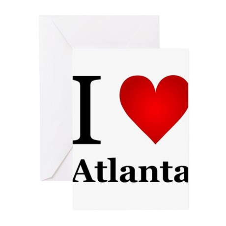 I Love Atlanta Greeting Cards (Pk of 10)