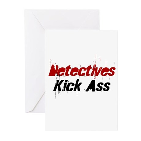 Detectives Kick Ass Greeting Cards (Pk of 10)