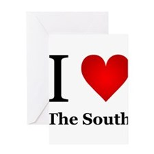 I Love the South Greeting Card