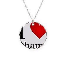 I Love Obama Necklace Circle Charm