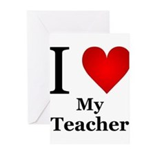 I Love My Teacher Greeting Cards (Pk of 20)