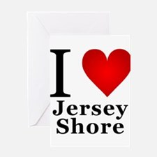 I Love Jersey Shore Greeting Card