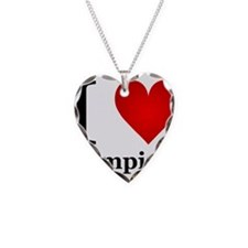 ilovevampires.png Necklace Heart Charm