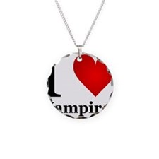 ilovevampires.png Necklace Circle Charm