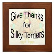 Thanks for Silky Terrier Framed Tile