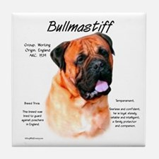 Red Bullmastiff Tile Coaster