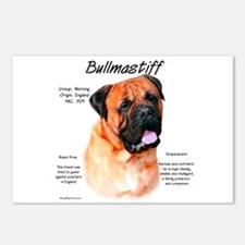 Red Bullmastiff Postcards (Package of 8)