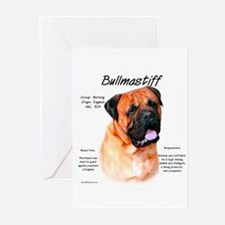 Red Bullmastiff Greeting Cards (Pk of 10)