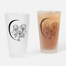 Wolf Pack Vector Drinking Glass