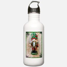 Nutcracker with holiday hat Water Bottle