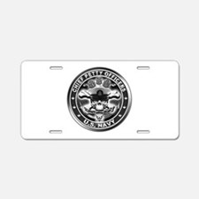 US Navy Chiefs Skull and Bones Aluminum License Pl
