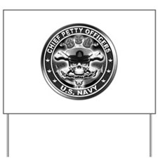 US Navy Chiefs Skull and Bones Yard Sign