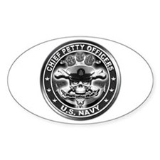 US Navy Chiefs Skull and Bones Decal
