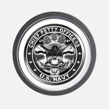 US Navy Chiefs Skull and Bones Wall Clock