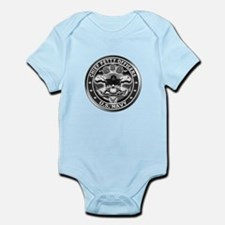 US Navy Chiefs Skull and Bones Infant Bodysuit
