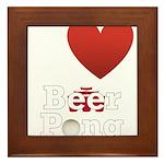 i-love-beer-pong-3-dark.png Framed Tile