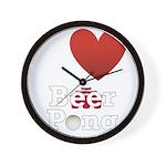 i-love-beer-pong-3-dark.png Wall Clock