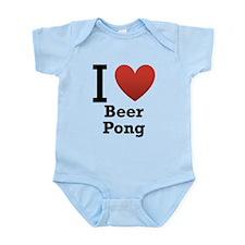 i-love-beer-pong-light.png Infant Bodysuit