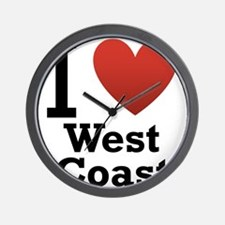 i-love-west-coast-light.png Wall Clock