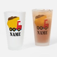 Personalized Dump Truck Drinking Glass