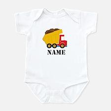 Personalized Dump Truck Baby Bodysuit
