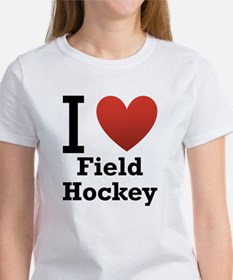 i-love-field-Hockey-light-tee.png Women's T-Shirt