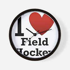 i-love-field-Hockey-light-tee.png Wall Clock