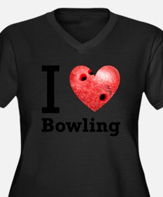 i-love-bowling-light-tee-pic.png Women's Plus Size