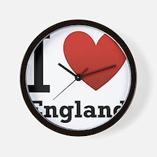 i-love-england-light-tee.png Wall Clock