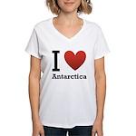 i-love-antartica-light-tee.png Women's V-Neck T-Sh