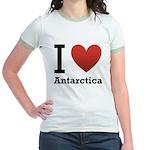 i-love-antartica-light-tee.png Jr. Ringer T-Shirt