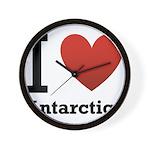 i-love-antartica-light-tee.png Wall Clock