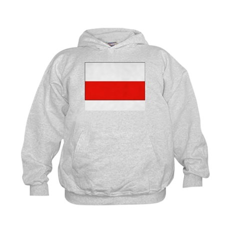 Poland Flag Picture Kids Hoodie