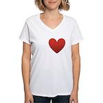 I-love-Austin.png Women's V-Neck T-Shirt