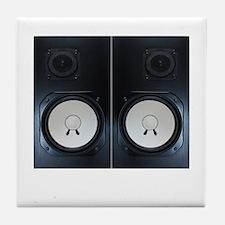 Vintage Speakers Tile Coaster