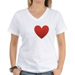 i-love-chocolate.png Women's V-Neck T-Shirt