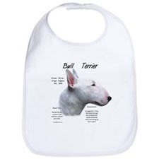 White Bull Terrier Bib