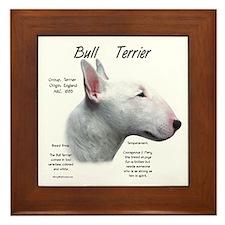 White Bull Terrier Framed Tile