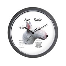 White Bull Terrier Wall Clock