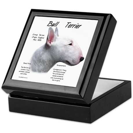 White Bull Terrier Keepsake Box